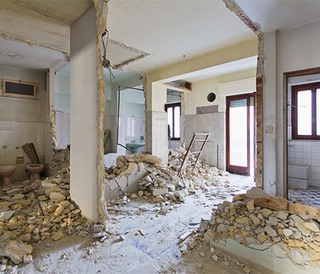 Démolition de murs appartement à Nomain