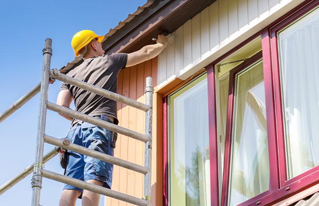 Rénovation de façade peinture extérieure à Nomain
