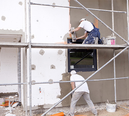 Rénovation de façade à Nomain